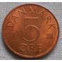 Dinamarca 5 Ore Moneda De Bronce Años 1973 1974 Km#859.1 C/u
