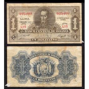 Bolivia Lote De 3 Billetes Diferentes