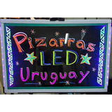 Pizarra Led Cartel Luminoso 60 X 40 Con Marcadores.