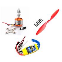 Kit Aero - Motor Brushless A2212 1000kv + Esc 30a + Hélices