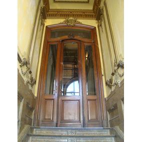 Puerta Antigua Roble 3 Hojas Banderola. Art 4656