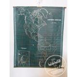 Mapa Antiguo Continente Americano Lona Vinilica Vintage Deco