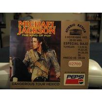Boleto Concierto Michael Jackson Estadio Azteca 1993