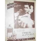 Publicidad Antigua Perfumes Extracto Locion Embrujo Sevilla