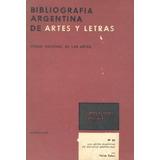 Bibliografia Argentina De Artes Y Letras Nº24 Las Artes Plas