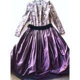 Vestido Largo Nina Ricci, Armado De Fiesta/noche - Vintage