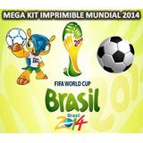 Kit Imprimible Para Tu Fiesta De Mundial De Futbol Brasil