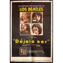 The Beatles Poster Afiche Original Pelicula Let It Be 1970