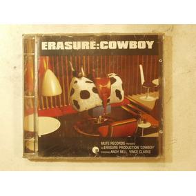 Cd Erasure Cowboy Año 1997 Rain Worlds On Fire Reach Out
