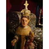Antigua Imagen Talla Figura Virgen Del Carmen Niño Dios. San