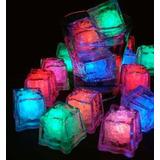 Cubo De Hielo Luz Led Multicolor P/ Fiestas Eventos Rumba