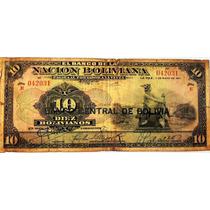 Billete De Bolivia - 10 Bolivianos - 1911 - En Mendoza