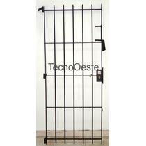 Puerta Reja Seguridad Hierro Macizo 80x200 Cerradura Grampas