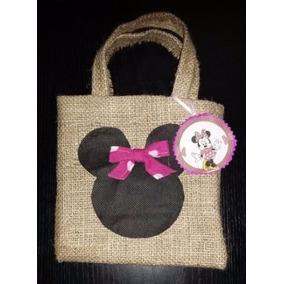 Souvenirs Bolsita Mickey Minie Mouse Tela Sofia Princesa