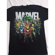 Playera Marvel Iron Man, Spiderman, Hulk, Original Importada