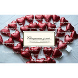 10 Chupetines Chocolate Corazón San Valentín Enamorados