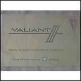 Libro-manual 100% Original De Uso: Valiant Iii Standard 1965