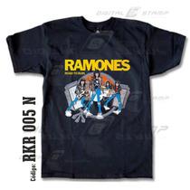 Remeras Ramones 05 Rock Estampado Digital Nuevos Diseños