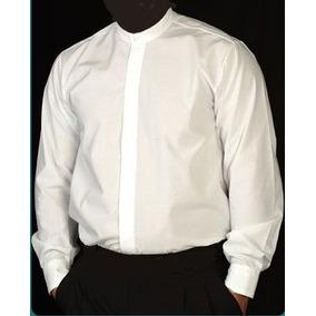 Camisa Cuello Mao Blanca O Negra. Uniforme Para Empresa