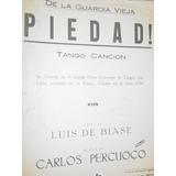 Cancion Piedad Luis De Biase Carlos Percuoco Partitura Tango