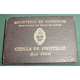 Cedula Identidad Buenos Aires 345939 Ministerio Gobierno 46