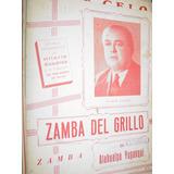 Partitura Antigua Zamba Del Grillo Atahualpa Yupanqui Cuadro