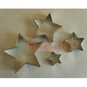 Cortante Molde Estrella X 4 Flogus Porcelana Galletitas Masa