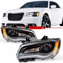 Par Farol Daylight Jeep Chrysler 300c 11 A 15 Másc Negra Led