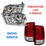 Par De Faros Lupa Led Ojo Angel Calaveras Led Dodge Ram 2010