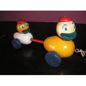 Original Patito X 2 Madera Año 70 Devoto Toys