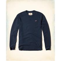 Hollister Camiseta Cuadros Relieve Azul Tallal M Originales