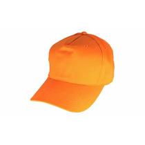 Gorra Naranja De Poliester Venta X Paq De 5 Unidad