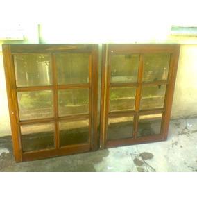 Ventana madera vidrio repartido usada aberturas ventanas for Mercadolibre argentina ventanas de madera