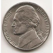 Moneda Estados Unidos De 5 Cents.five Cents Año1982 P