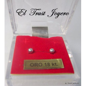 Aritos Abridores Oro Blanco 18k Nº2 El Trust Joyero Garantia