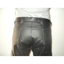 Pantalon De Cuero Hombre Moto Fabrica