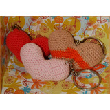 51) Llaveros Corazon Artesanales Tejidos Al Crochet