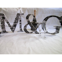 Centros De Mesa, Casamiento, Fiesta De Quince,letras Foto