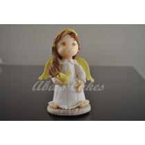 Adorno Torta, Angelita Comunión/bautismo, Porcelana Fria