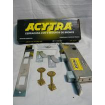 Cerradura Acytra 610 Parante Angosto,ideal Portones Y Rejas