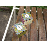 Cajas De Papel X10u, P/armar Mini Cajitas Souvenir Coloridas