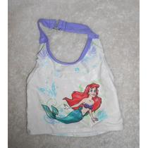 Disney! Blusita De Traje De Baño De La Sirenita Talla 4