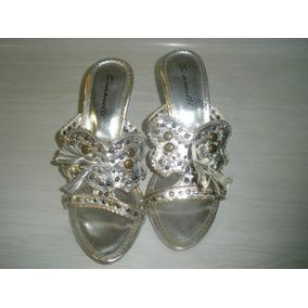 Sandalias Plateadas Importadas Miami