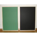 Pizarrón Para Tiza Verde O Negro 60 X 90 Cm - Marco Madera