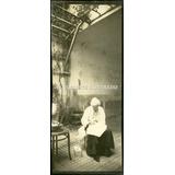 Señora Bordando Patio Parra C 1885 Trabajo Femenino Costumbr