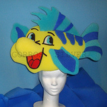 Pez Flounder Vincha Cotillon Goma Espuma