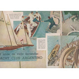 Poster Antiguo - Mundo Deportivo - Yacht Club Argentino
