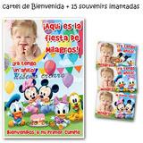 Disney Bebe Cumpleaños: Cartel Bienvenidos 15 Souvenirs Iman
