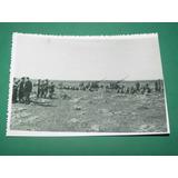 Fotografia Antigua Soldados Uniformes Guerra Bateria Cañones