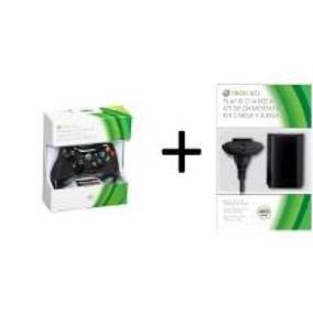 Controle Xbox 360 Original Com Kit Charger Carregador